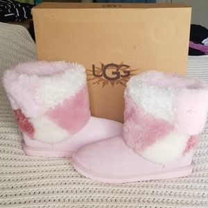 *NIB*UGG Classic Short Pink Patchwork*Authentic*